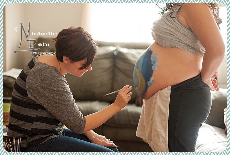 Belly Art, Painted belly, Long isalnd photographer, Long island maternity photographer, long island newborn photographer
